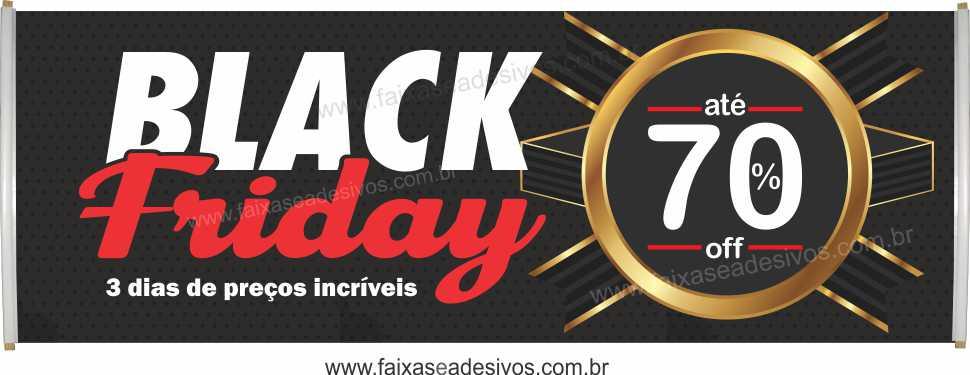 117- Black Friday - Faixa  - Fac Signs