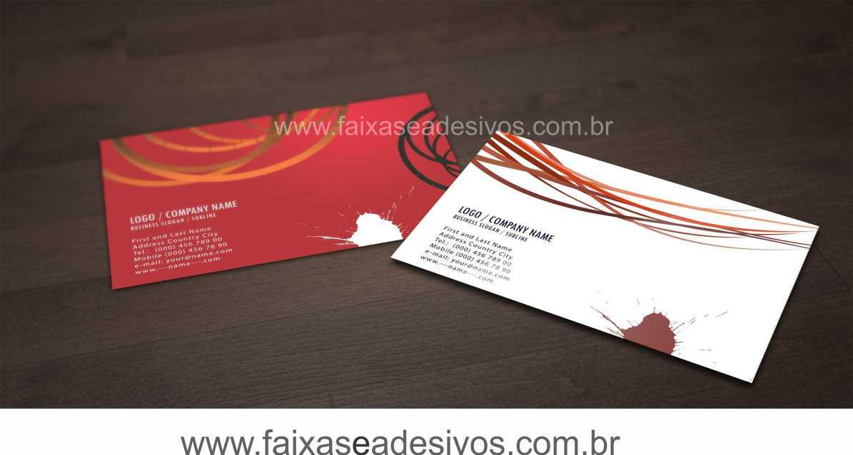 015G - Cartão de Visita 4x4 cor - Laminação Fosca   - Fac Signs