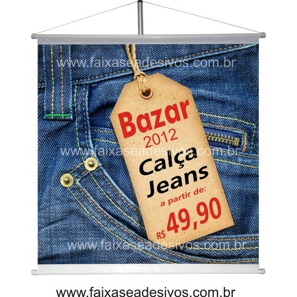 Banner Calça Jeans 80x85cm  - FAC Signs Impressão Digital
