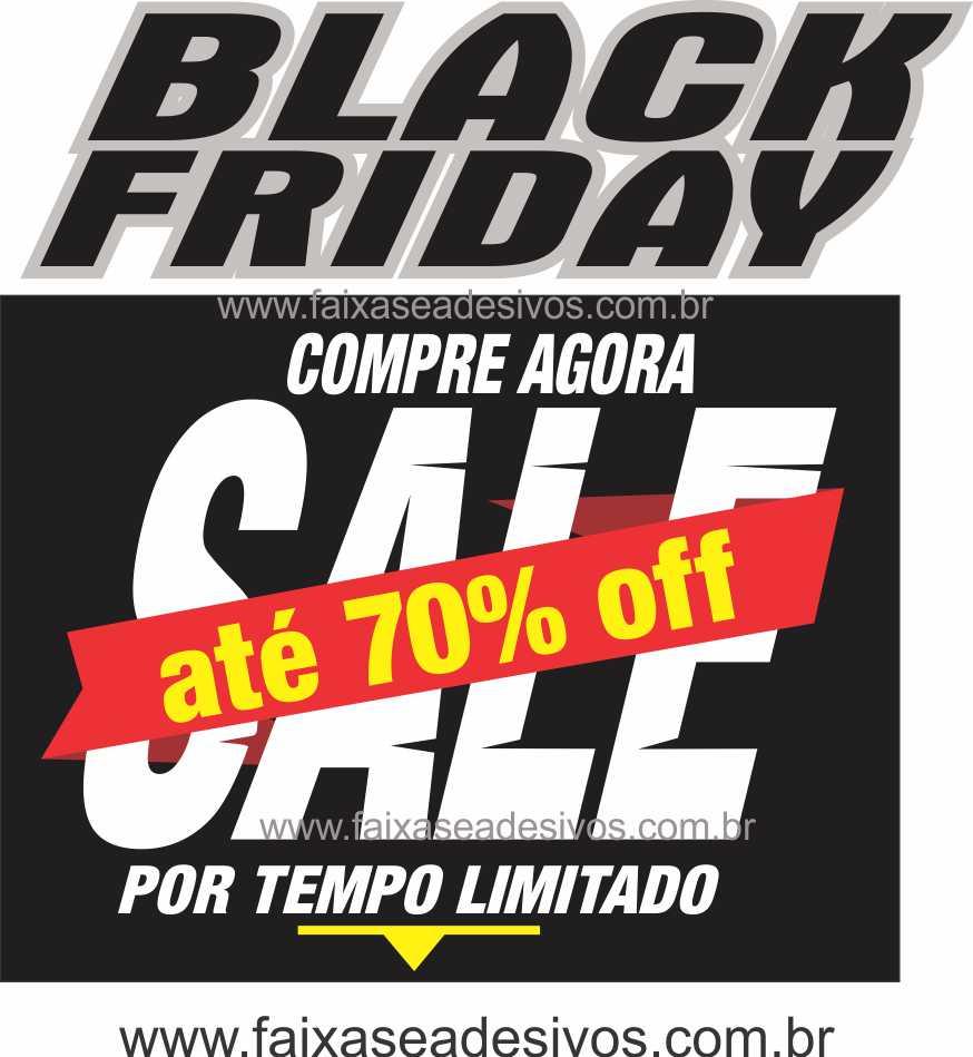 109A - Black Friday Adesivo  - Fac Signs