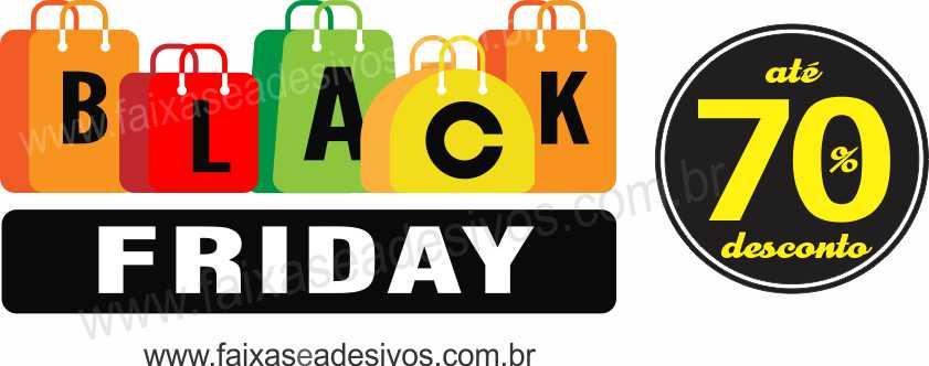 107A - Black Friday Adesivo  - FAC Signs Impressão Digital