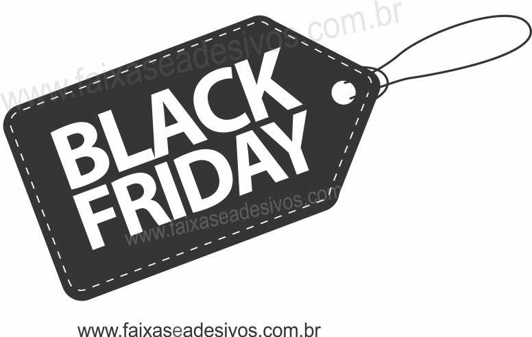 106A - Black Friday - Adesivo Tag  - FAC Signs Impressão Digital
