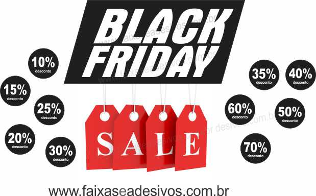 105A- Black Friday - Adesivo Sale  - Fac Signs