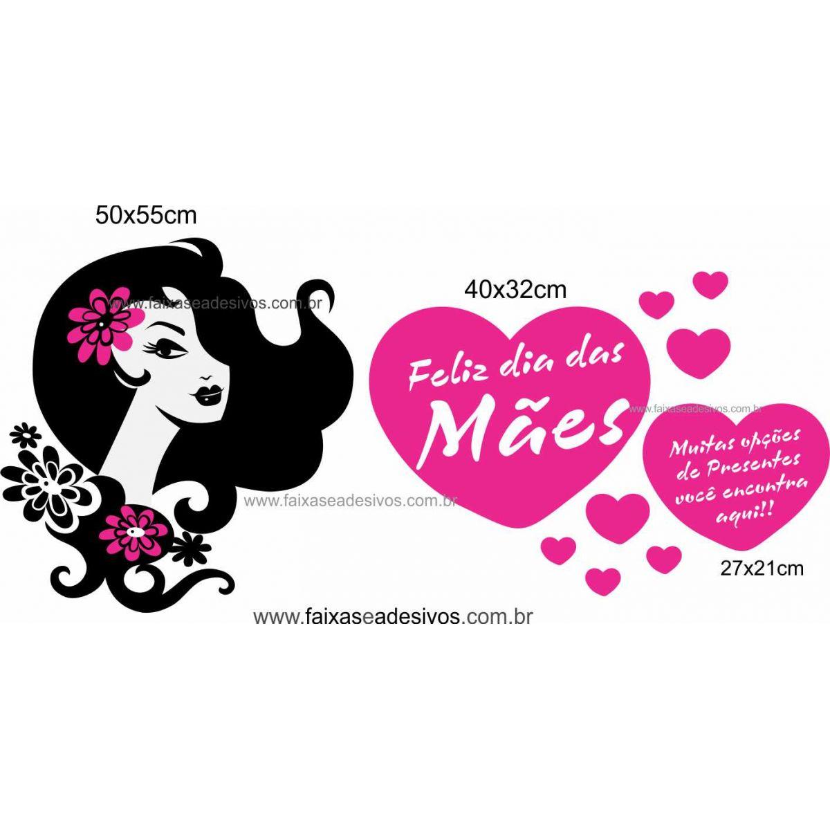 A492M - Adesivo Dia das Mães   - Fac Signs
