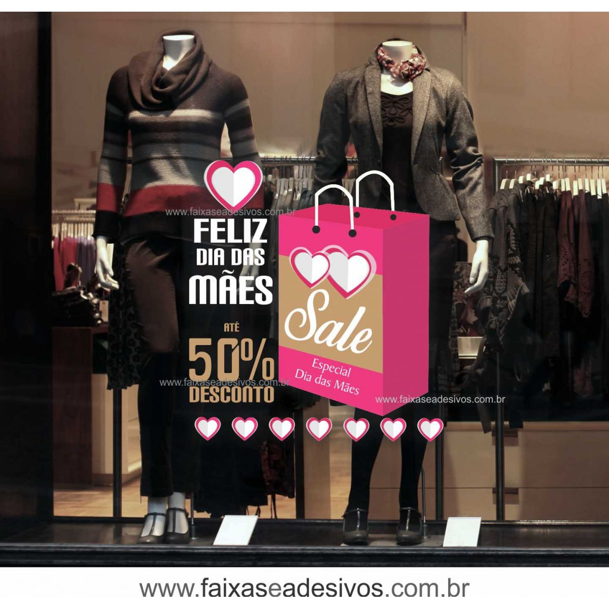 A486M - Adesivo Dia das Mães 5  - Fac Signs