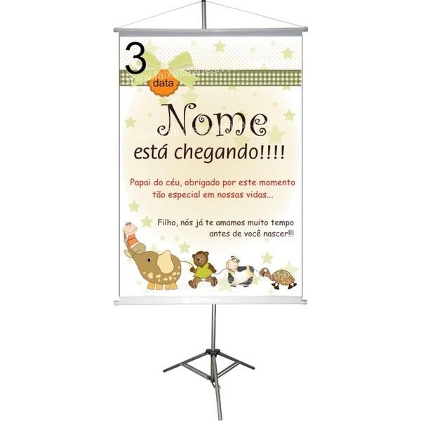 Chá de Bebê Banner 100x70cm - Escolha a arte  - FAC Signs Impressão Digital