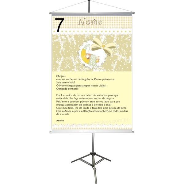 Chá de Bebê Banner 100x70cm - Escolha a arte  - Fac Signs