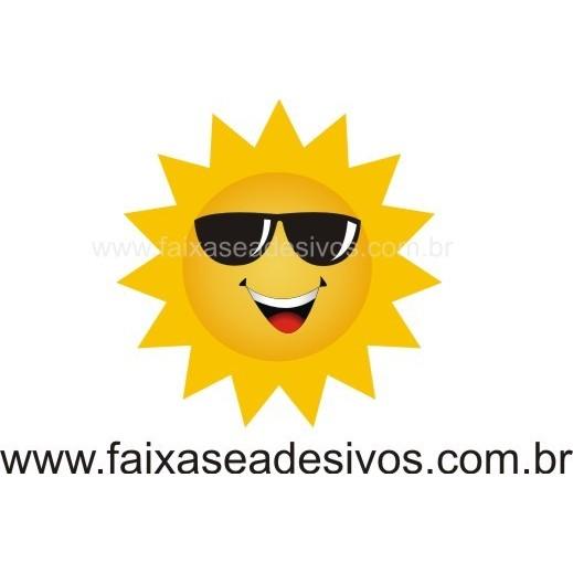 Sol com óculos 30x30cm  - FAC Signs Impressão Digital