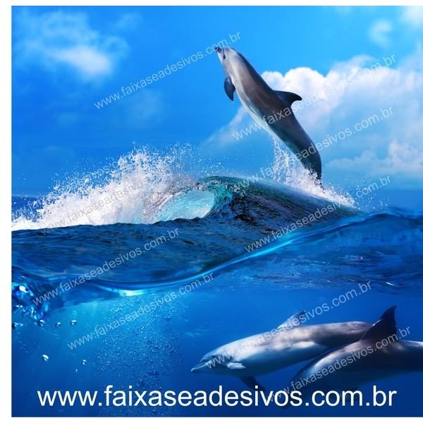 Golfinhos painel para fundo de vitrine 1,50m  - FAC Signs Impressão Digital