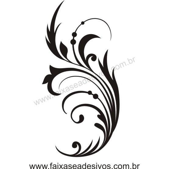 Arabesco 2 Adesivo 90x45cm  - FAC Signs Impressão Digital