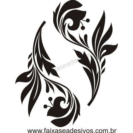 Arabesco 3 -Adesivo 55x 45cm  - FAC Signs Impressão Digital