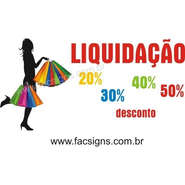 Adesivo Liquidação 100x50cm  - Fac Signs