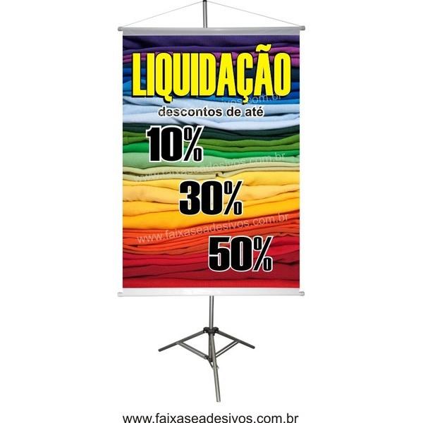 Banner Liquidação cores - 100x70cm  - FAC Signs Impressão Digital