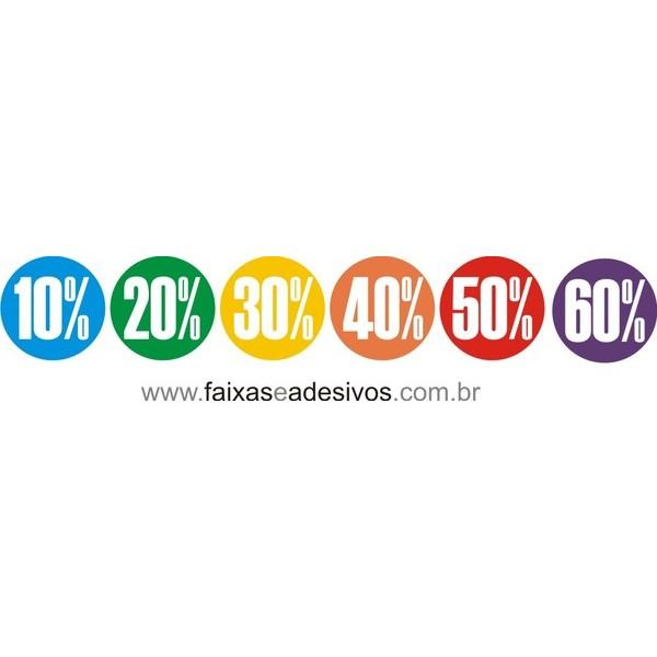Adesivos recortados vazado % - 22x22cm ´6 peças´  - FAC Signs Impressão Digital