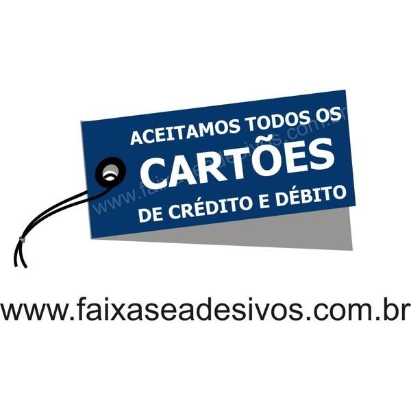 Adesivo TAG cartões 45x25cm  - FAC Signs Impressão Digital
