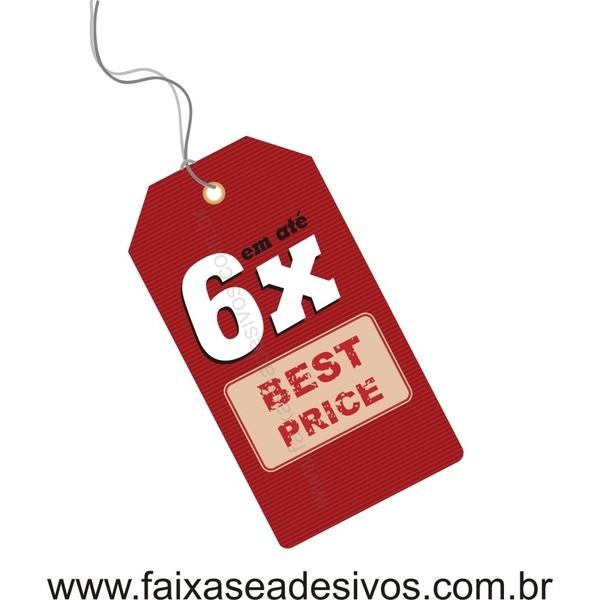Adesivo TAG vermelho 6x - 80x30cm  - FAC Signs Impressão Digital