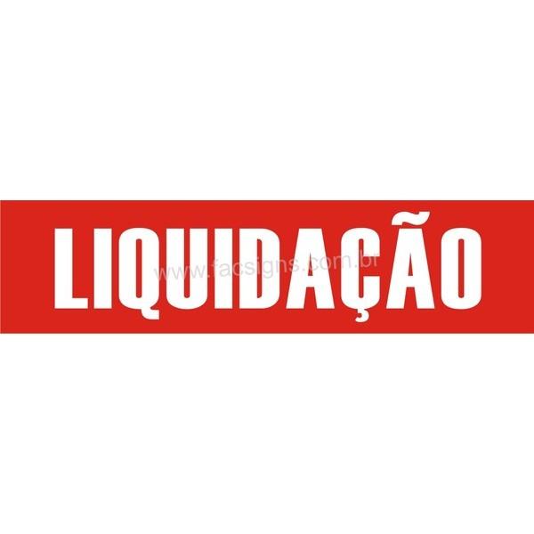 Adesivo Liquidação Vazado 0,25 x 1,00m  - FAC Signs Impressão Digital