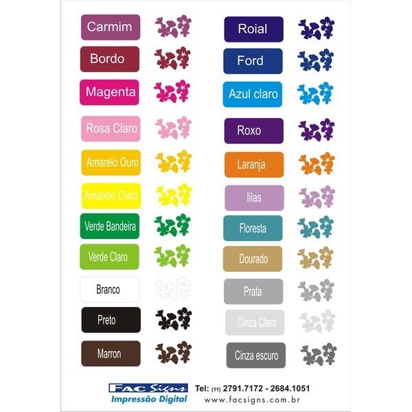 Adesivo salão de beleza 22cm  - FAC Signs Impressão Digital