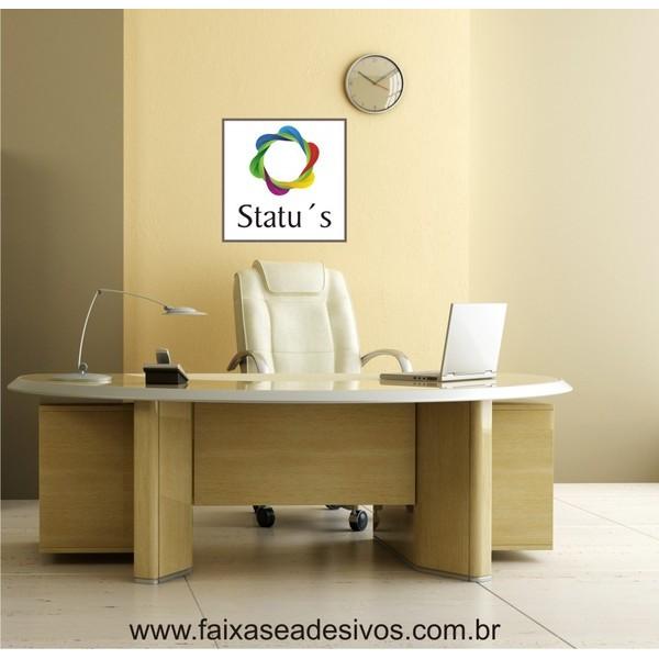 Seu Logotipo em adesivo 50x50cm  - FAC Signs Impressão Digital
