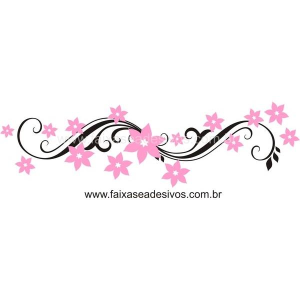 Adesivos decorativo Floral 100x30cm  - FAC Signs Impressão Digital