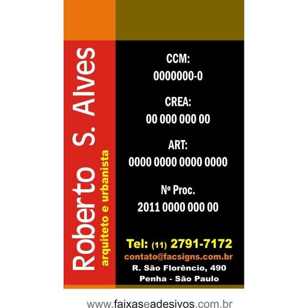 Placa Arquitetura e Engenharia 80x50  - FAC Signs Impressão Digital