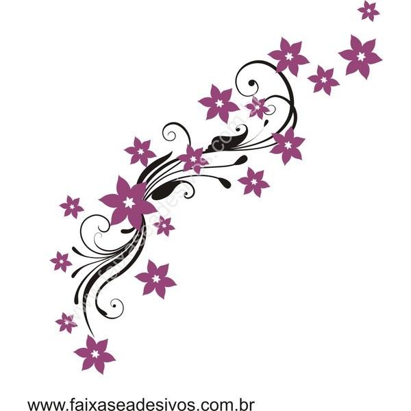 Arabesco Floral Adesivo decorativo 90x45cm  - FAC Signs Impressão Digital