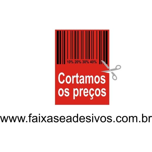 Adesivo de vitrine - codigo de barras 50x45cm  - FAC Signs Impressão Digital