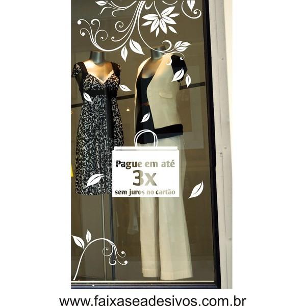 Adesivo de vitrine Arabescos Outono-Inverno  - FAC Signs Impressão Digital