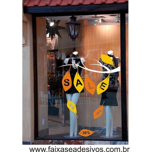 Outono-Inverno Adesivo de loja 90x70cm  - FAC Signs Impressão Digital