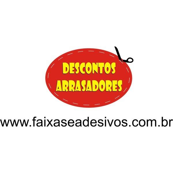 Adesivo Descontos arrasadores - Troque o texto  - FAC Signs Impressão Digital