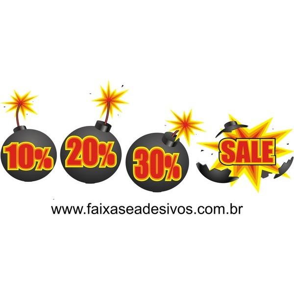 Explosão de ofertas adesivo 50x120cm  - FAC Signs Impressão Digital