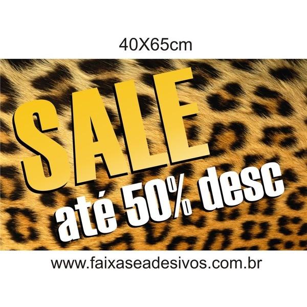 Adesivo textura de Pele de Animais SALE 40x65cm  - FAC Signs Impressão Digital