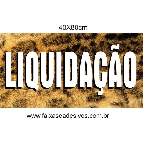 Adesivo Liquidação 40x80cm  - FAC Signs Impressão Digital