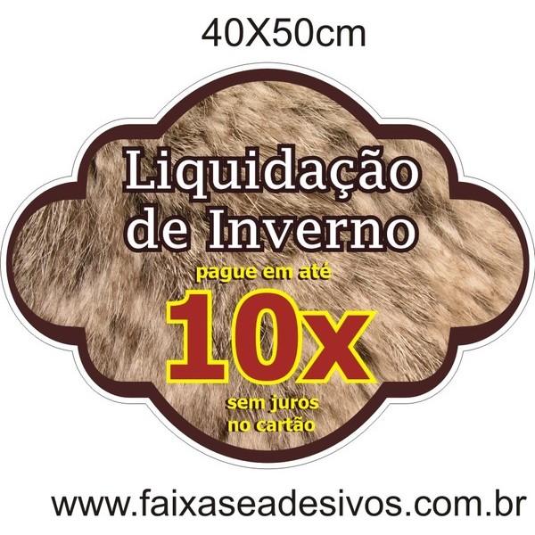 Adesivos 40x50cm - Liquidação de inverno 10x´ PAR  - FAC Signs Impressão Digital