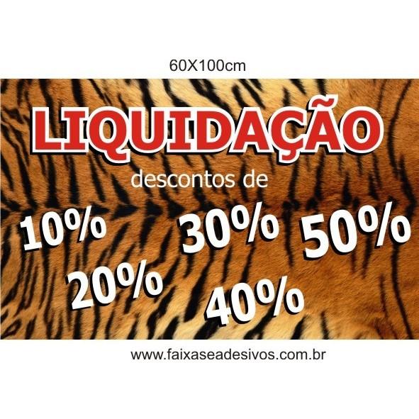 Adesivo de inverno pele de tigre 60x100cm  - FAC Signs Impressão Digital
