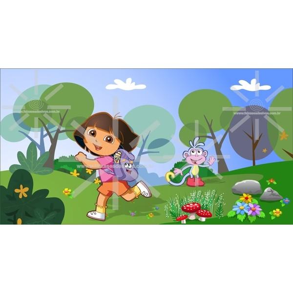 Painel de Aniversário Dora Aventureira  - FAC Signs Impressão Digital