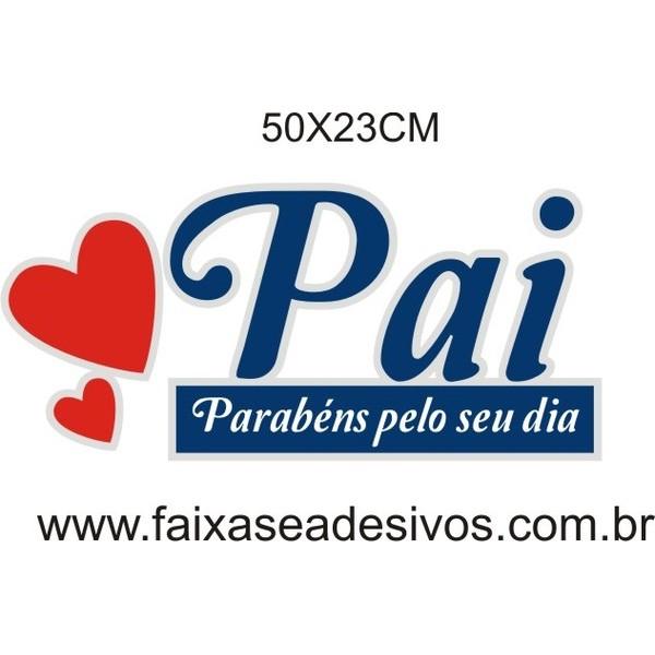 Pai Parabéns PAR 50x23cm  - FAC Signs Impressão Digital