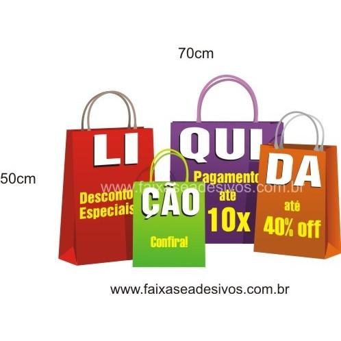 Liquidação Adesivo Sacolas 70x50cm  - FAC Signs Impressão Digital