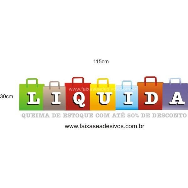 Liquida adesivo 115x30cm sacolas  - FAC Signs Impressão Digital