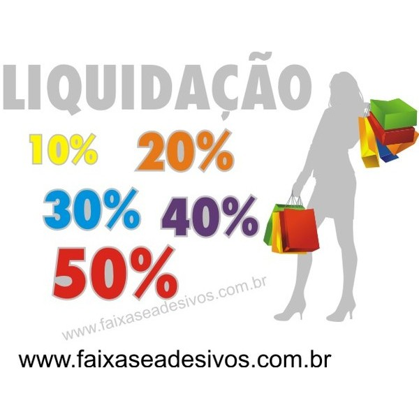 Silueta branca - mulher sacola Adesivo 110x70cm  - FAC Signs Impressão Digital