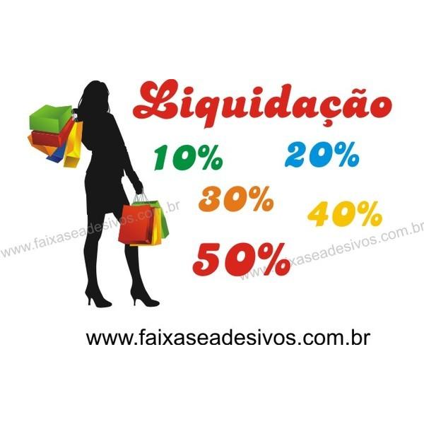 Silueta Preta - Mulher com sacolas adesivo 100x60cm  - FAC Signs Impressão Digital