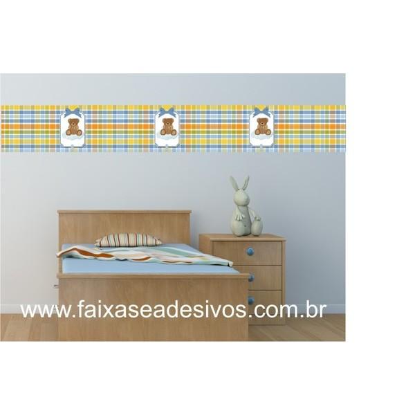 Faixa adesiva de parede 003 - com 15cm- xadrez  - Fac Signs