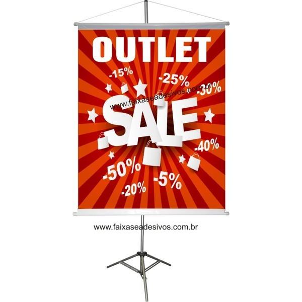 Banner Outlet 100x80cm em lona  - Fac Signs