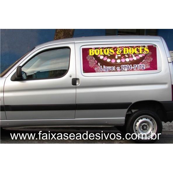 Adesivos 100x40cm para lateral de carro PAR  - FAC Signs Impressão Digital