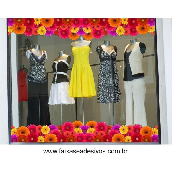 Tarja Adesiva de Gerberas 2 peças 1,10 x 0,30cm  - Fac Signs