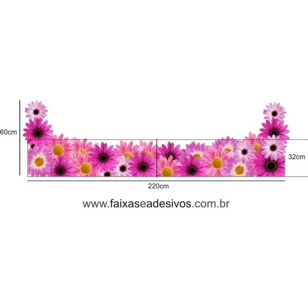 Gerberas Pink Primavera  - FAC Signs Impressão Digital