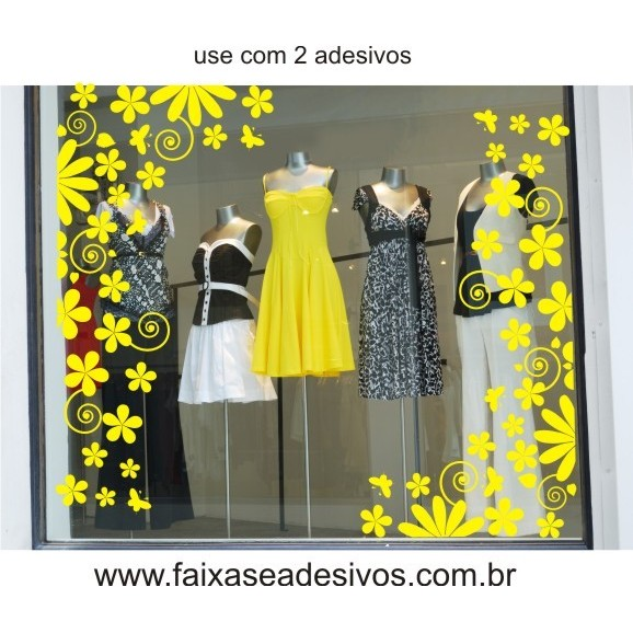 Primavera Flores de Jardim Adesivo  - FAC Signs Impressão Digital