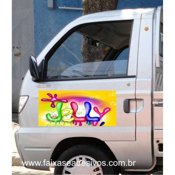 Adesivos impressos 65x35cm p/ porta de carro (2 peças)  - Fac Signs