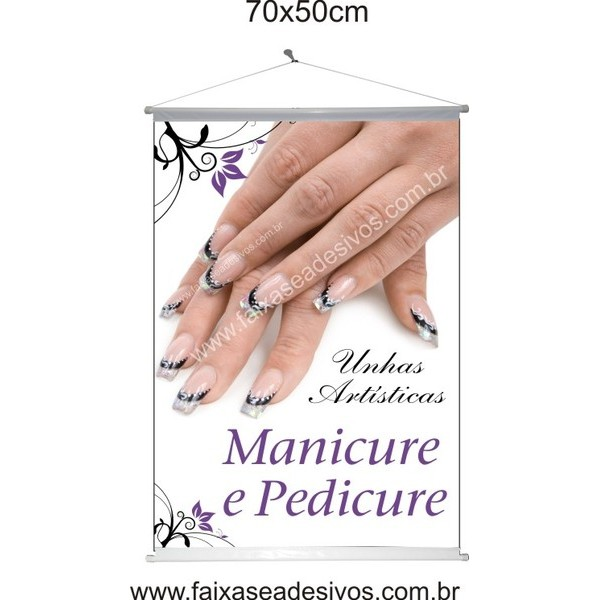 Manicure Banner em lona 70x50cm  - FAC Signs Impressão Digital