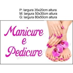 Adesivo Manicure e Pedicure (P-M-G)  - FAC Signs Impressão Digital